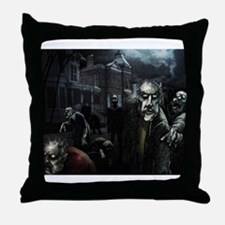 Zombie Party Throw Pillow