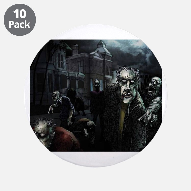 "Zombie Party 3.5"" Button (10 pack)"