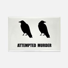 Attempted Murder Of Crows Rectangle Magnet (10 pac