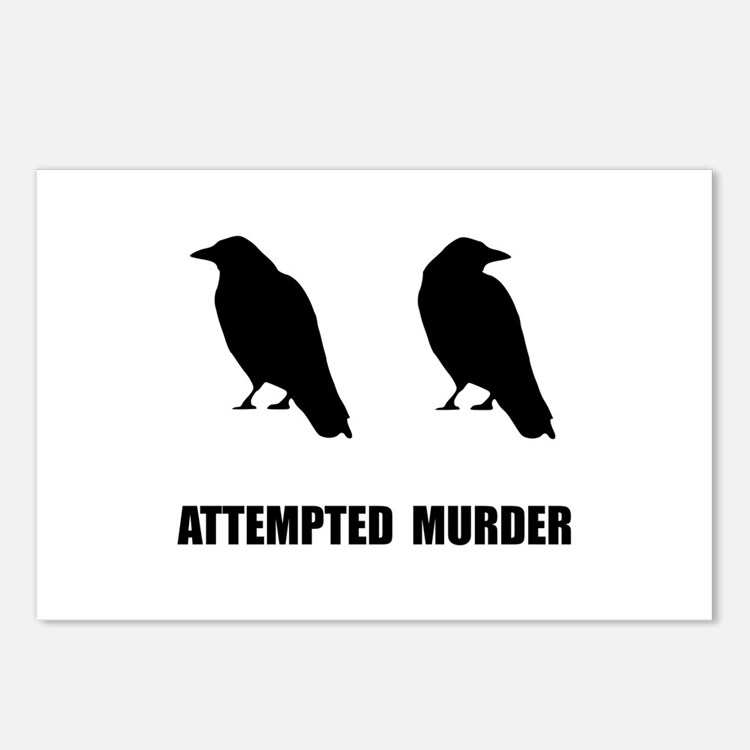 Attempted Murder Of Crows Postcards (Package of 8)