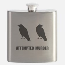 Attempted Murder Of Crows Flask