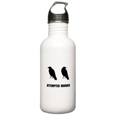 Attempted Murder Of Crows Water Bottle