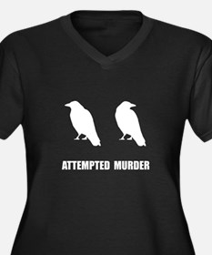Attempted Murder Of Crows Women's Plus Size V-Neck