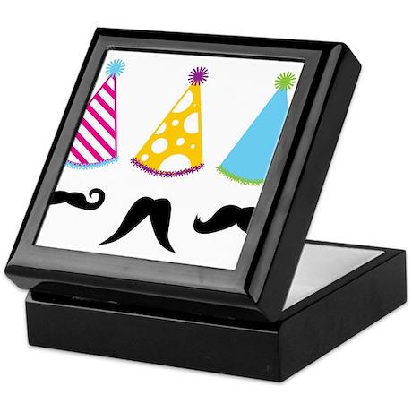 Party Mustache Keepsake Box
