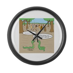 Snake Sour Grapes Large Wall Clock