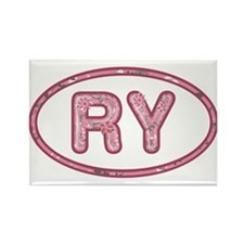 RY Pink Rectangle Magnet