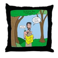 John the Baptist Diet Throw Pillow