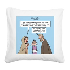 Left Behind Square Canvas Pillow