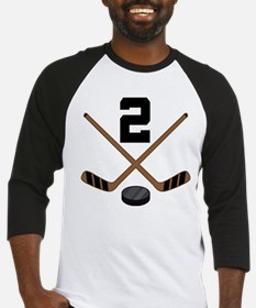 Hockey Player Number 2 Baseball Jersey