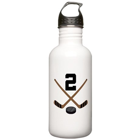 Hockey Player Number 2 Stainless Water Bottle 1.0L