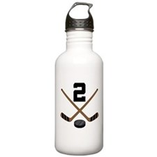 Hockey Player Number 2 Water Bottle