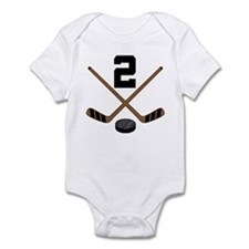 Hockey Player Number 2 Infant Bodysuit