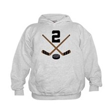 Hockey Player Number 2 Hoodie