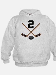 Hockey Player Number 2 Hoodie