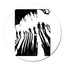 Zombie Sunset Round Car Magnet