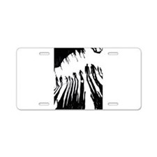 Zombie Sunset Aluminum License Plate
