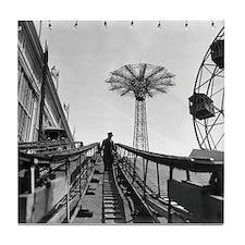 Coney Island Roller Coaster 1826597 Tile Coaster