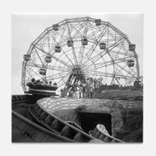 Coney Island Amusement Rides 1826612 Tile Coaster