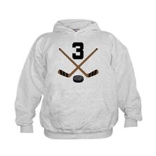 Hockey Player Number 3 Hoodie