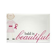 Bald Is Beautiful Rectangle Magnet
