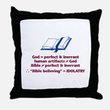 Bible Not Inerrant Throw Pillow