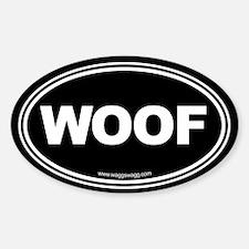 Wag More Bark Less Black Bumper Stickers