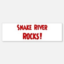 Snake River Rocks Bumper Bumper Bumper Sticker