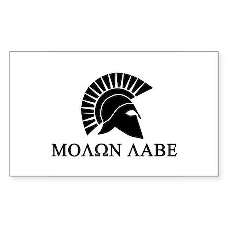 Molon Labe Sticker (Rectangle)
