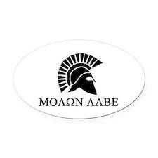 Molon Labe Oval Car Magnet