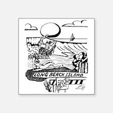 "LBI Island Style Square Sticker 3"" x 3"""