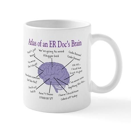 Atlas of an ER Docs Brain Mugs