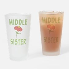Middle Sister Peach Flower Drinking Glass