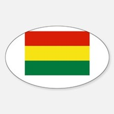 Bolivia Flag Picture Oval Decal