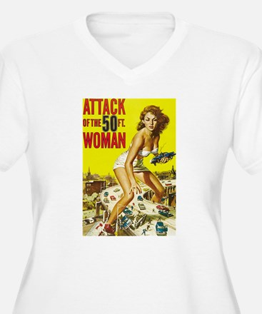 Vintage Attack Woman Comic T-Shirt