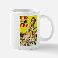 Vintage Attack Woman Comic Mug