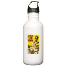 Vintage Attack Woman Comic Sports Water Bottle