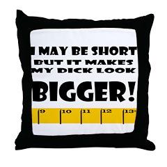 Short but Bigger Throw Pillow