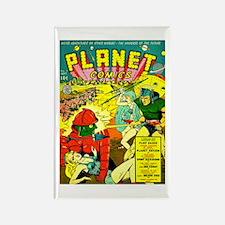 Vintage Alien Invasion Comic Rectangle Magnet