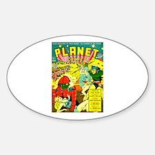 Vintage Alien Invasion Comic Decal