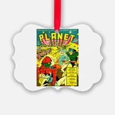 Vintage Alien Invasion Comic Ornament