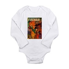 Redhead Warrior Woman Long Sleeve Infant Bodysuit