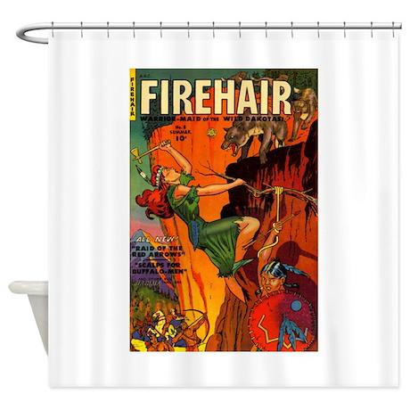 Redhead Warrior Woman Shower Curtain