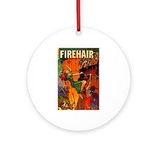 Redhead Warrior Woman Ornament (Round)