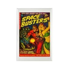 Retro Space Adventure Rectangle Magnet