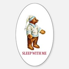Sleepy Time Bear Sticker (Oval)