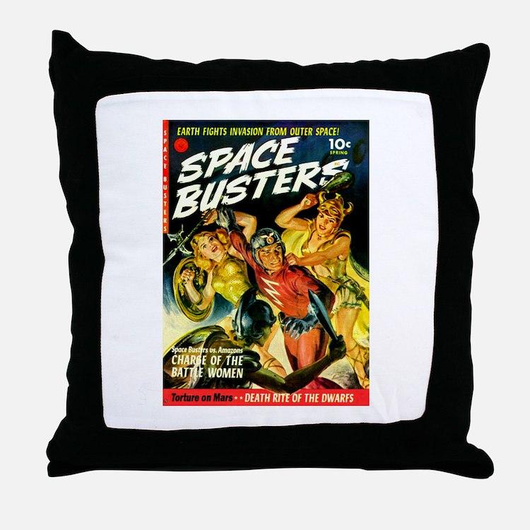 Space Warrior Women Throw Pillow