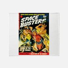 Space Warrior Women Throw Blanket