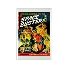 Space Warrior Women Rectangle Magnet