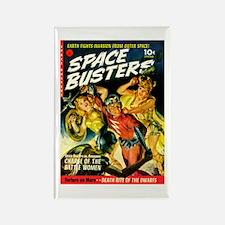 Space Warrior Women Rectangle Magnet