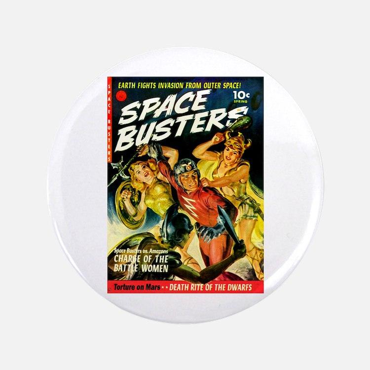 """Space Warrior Women 3.5"""" Button"""
